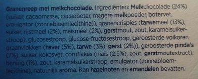 B'tween melkchocolade - Ingrediënten - nl
