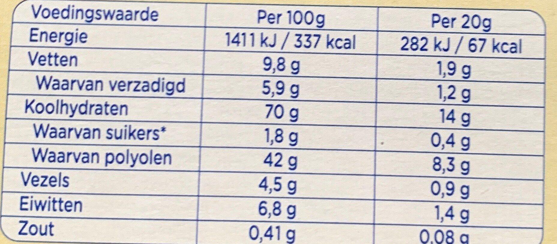 B'tween zero witte chocolade - Nutrition facts - nl