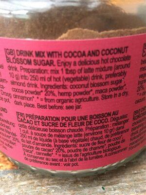 Cacao latte gula jawa - Ingrediënten - fr