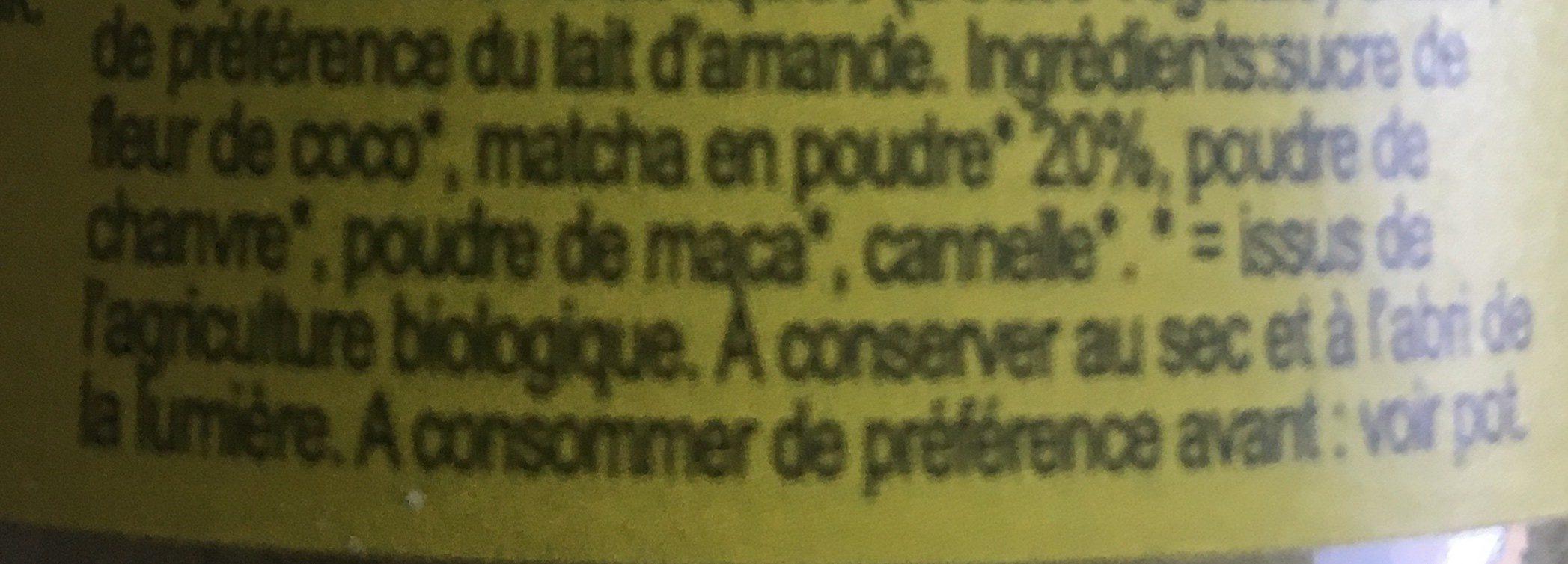 Matcha Latte - Ingredientes - fr