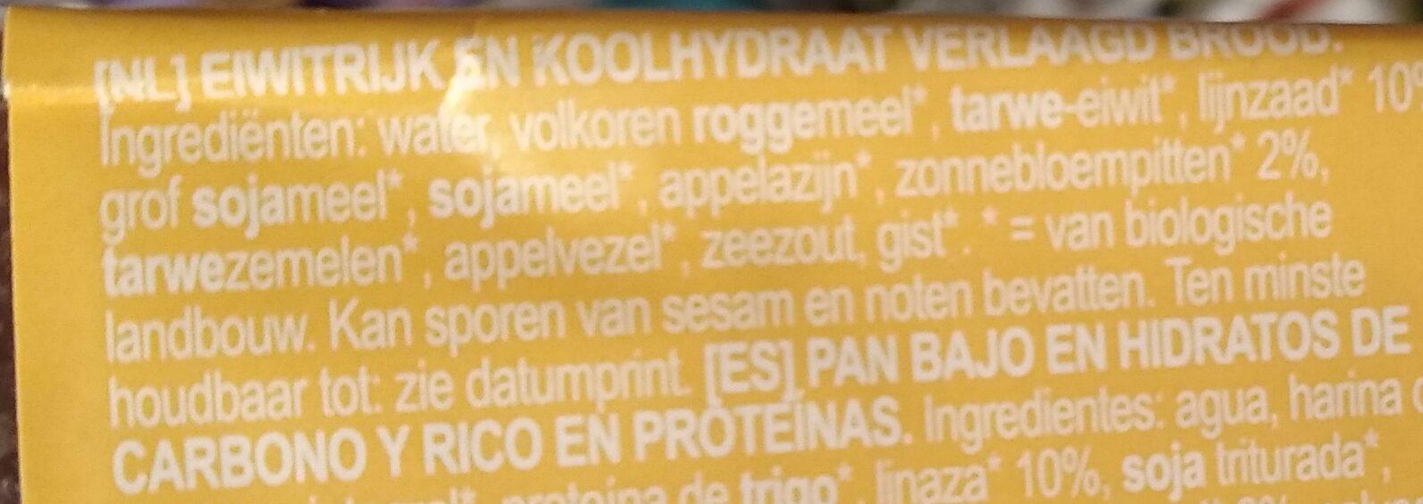 Pain protéiné - Ingrediënten - nl
