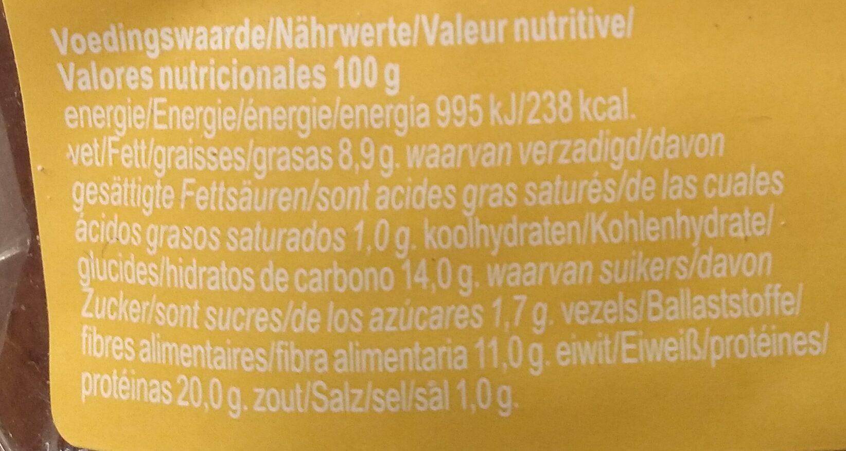 Pain protéiné - Voedingswaarden - nl