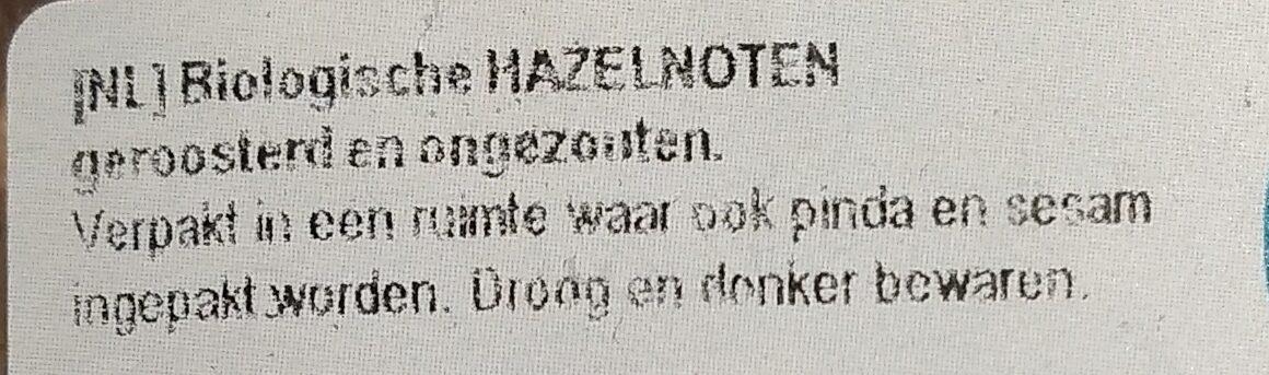 Hazelnoten geroosterd - Ingredients - nl