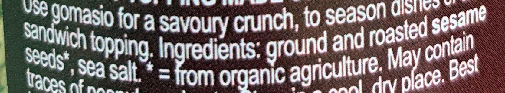 Gomasio - Ingredients - en