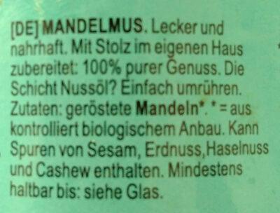 Mandelmus - Ingredients - de