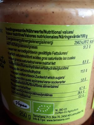 4-mix mixed nut butter - Informations nutritionnelles