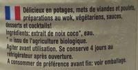 Kokosnuss milch - Ingrédients - fr