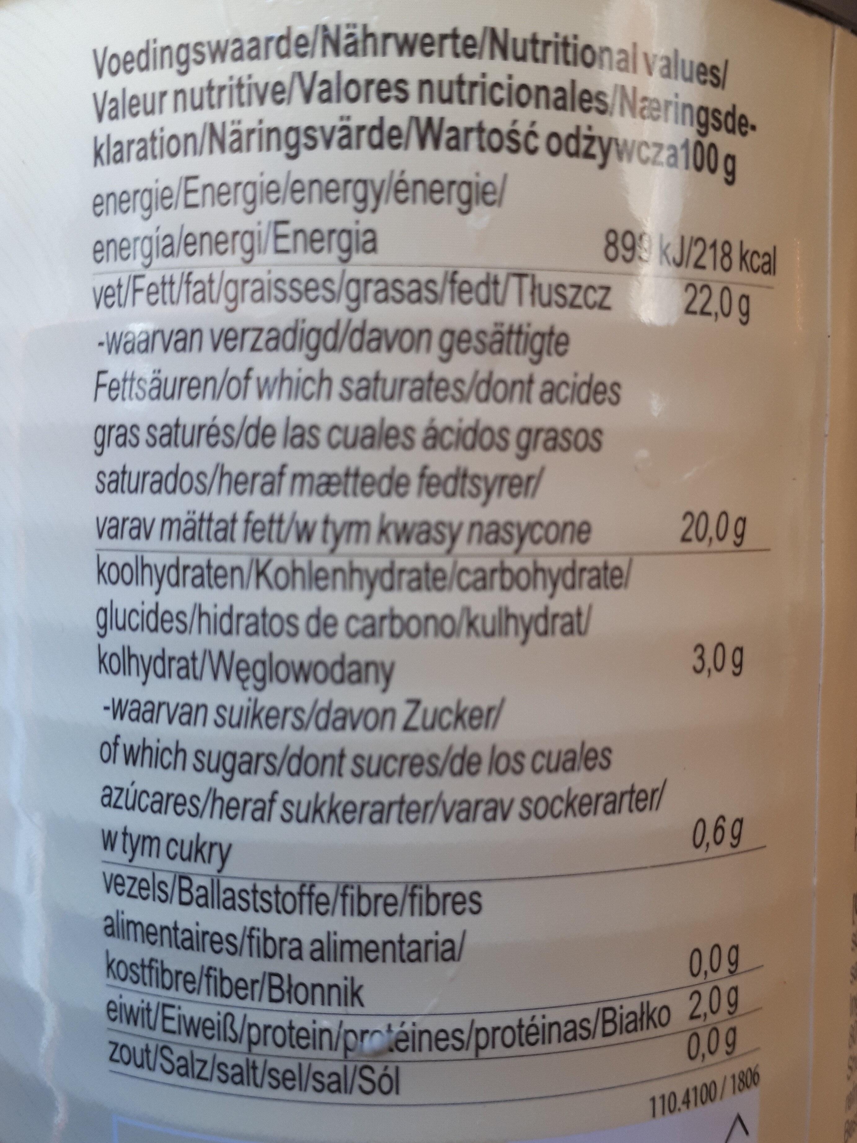 Kokosnuss milch - Informations nutritionnelles - fr