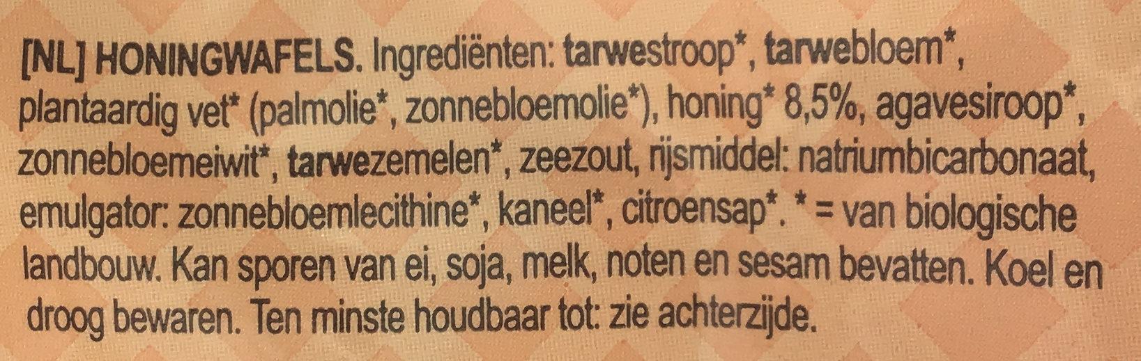 Gaufres au miel bio - Ingrediënten - nl