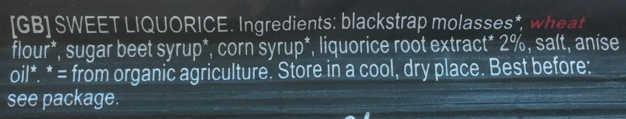 Cordon de Réglisse sucré - Ingredients