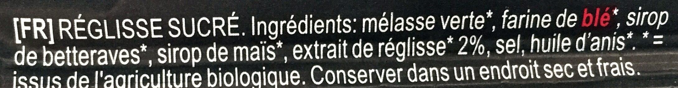 Cordon De Reglisse 60CM - Ingrediënten - fr