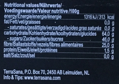 ZOO - Nutrition facts - nl
