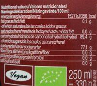Maple Arce - Informació nutricional
