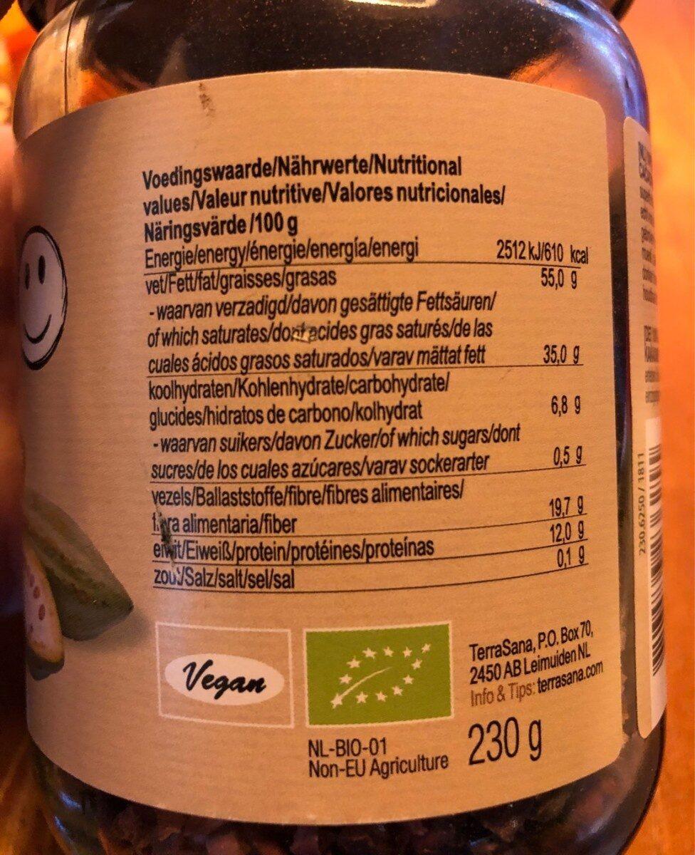 Nibs éclats - Información nutricional - es