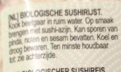 Arroz de sushi - Ingredients - nl