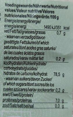 Arroz de sushi - Nutrition facts - nl