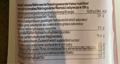 Nouilles de riz noir sans gluten - Nutrition facts - fr