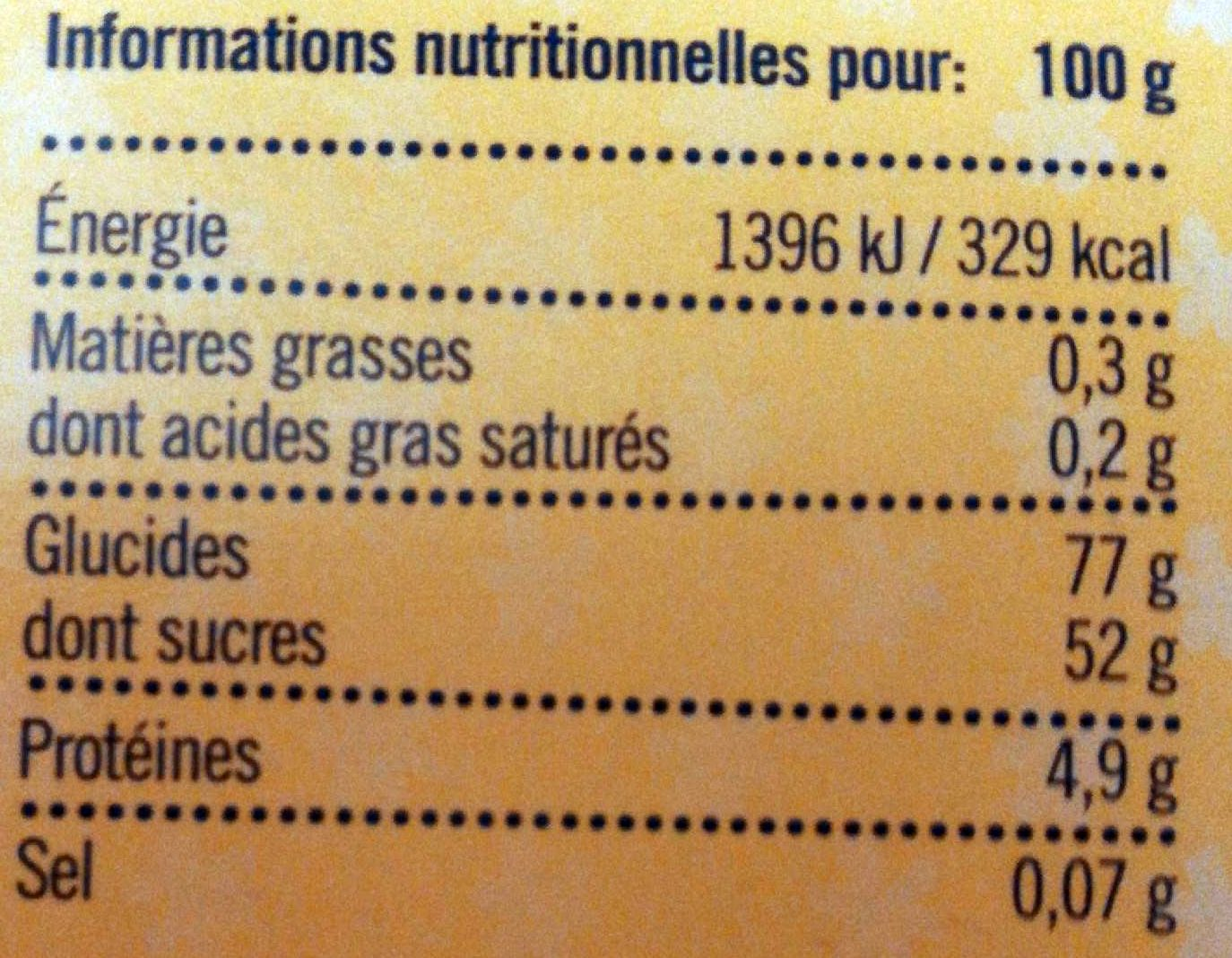 Give Away Candy Merci - Informations nutritionnelles - fr