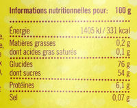 Give away candy Love - Informations nutritionnelles - fr