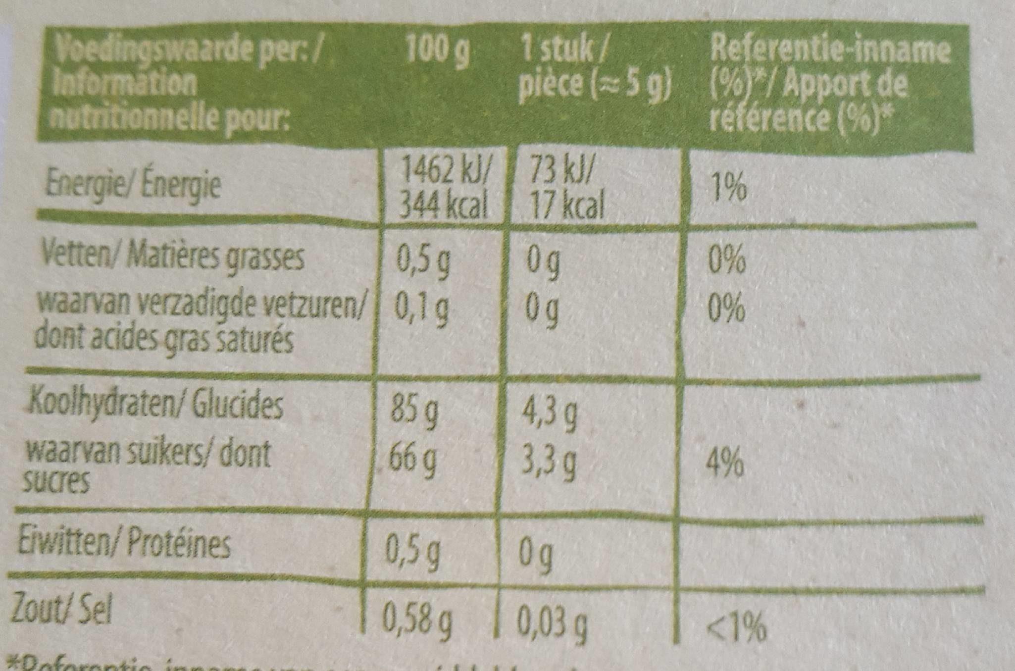 Tropical Cola - Voedingswaarden - fr