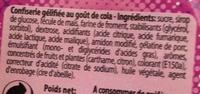 Explosion goût cola - Ingredients - fr