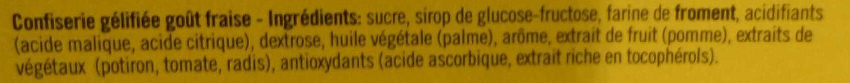 Bandeaux fraise - Ingrédients - fr