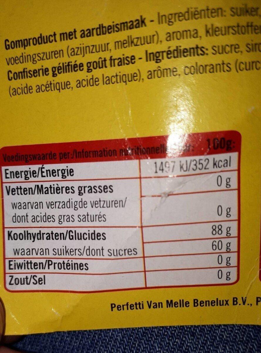 Fraises - Informations nutritionnelles - nl