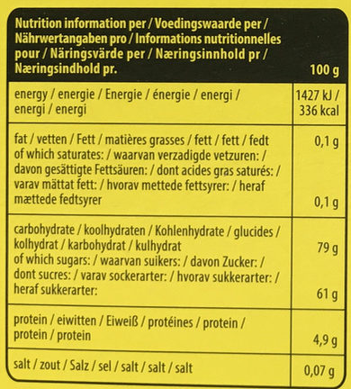 Candy Cake - Informations nutritionnelles - fr