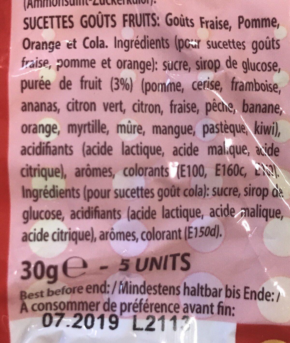 Chupa Chups Mini 5er - Ingredients