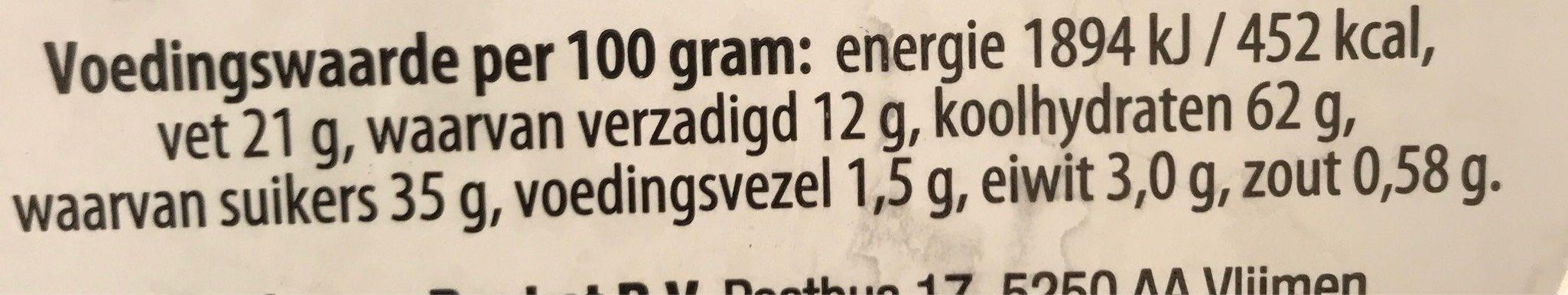 "Daelman's Caramel Wafers ""Stroopwafels"" Orange Tin 8.11 Oz [pack Of - Voedingswaarden - nl"
