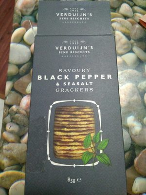 Black pepper & seasalt crackers - Producto