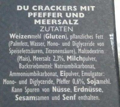 Galletas saladas con pimienta negra y sal - Zutaten