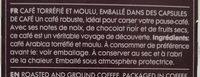 Coffee capsules lungo ultimo - Ingrediënten - fr