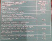Chocolat lips praline - Voedingswaarden - fr
