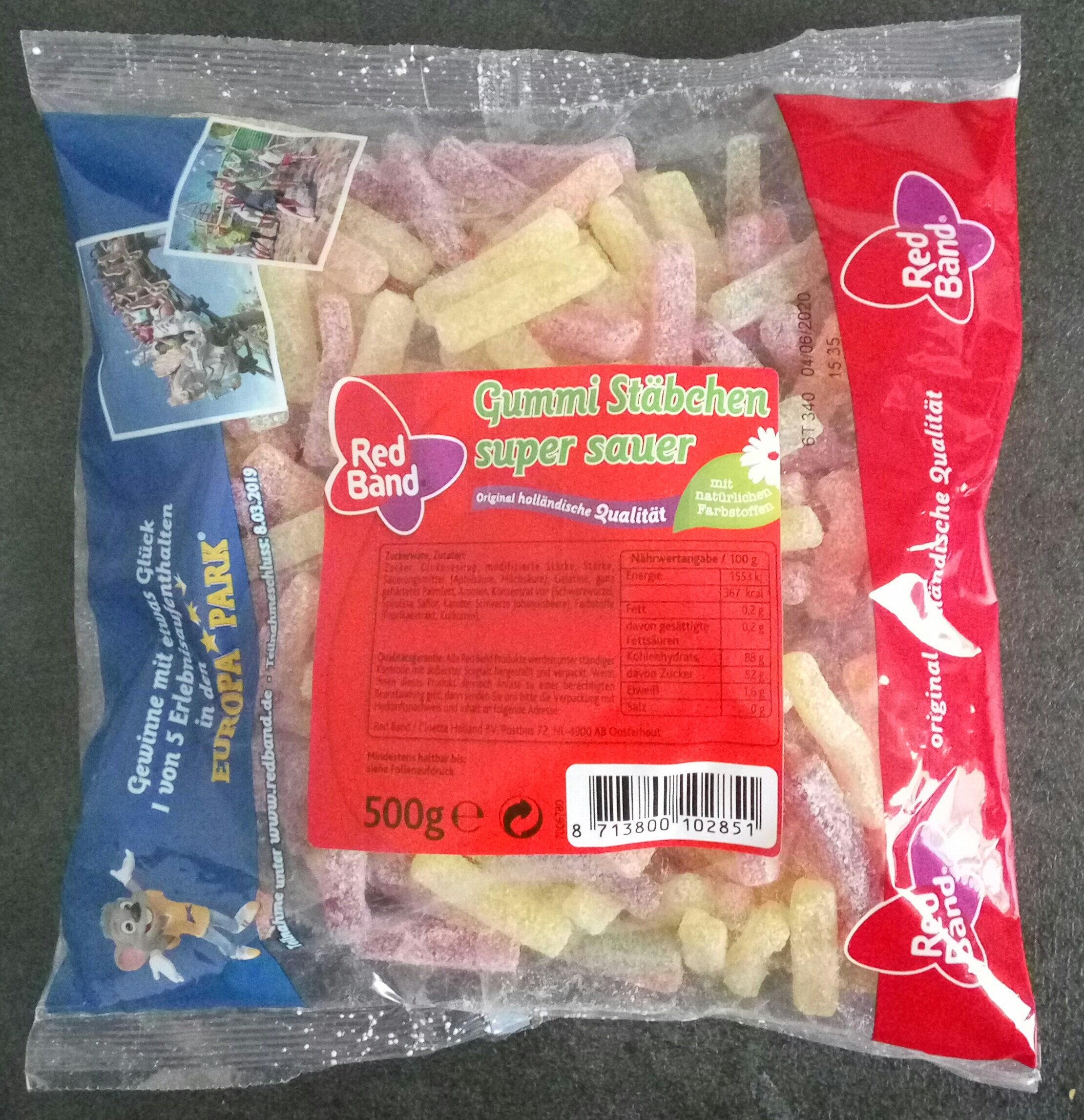 Gummi Stäbchen super sauer - Produkt - de