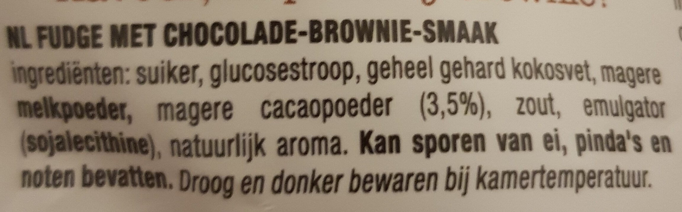 Soft Fudge Chocolate Brownie - Inhaltsstoffe - nl