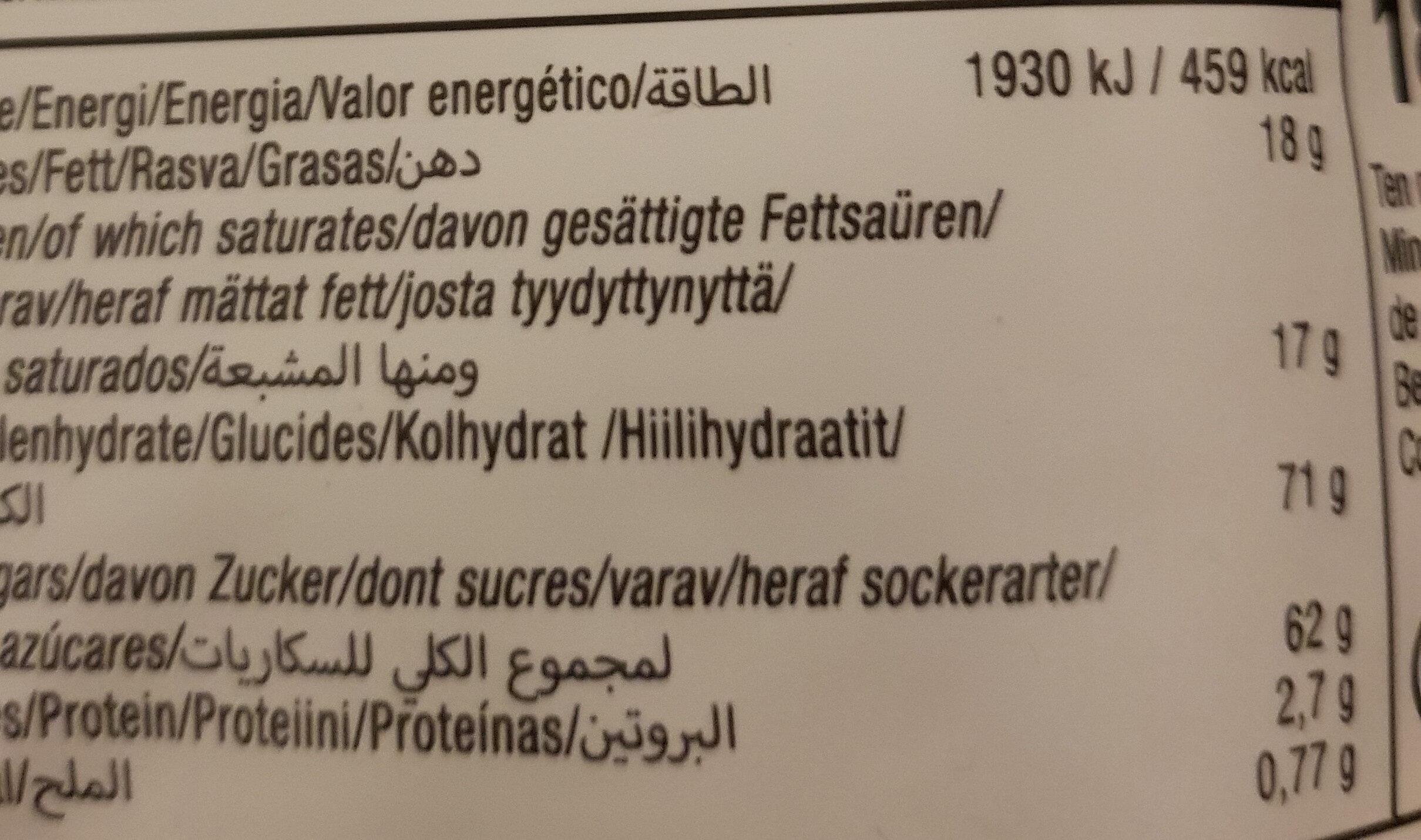 Soft Fudge Chocolate Brownie - Nährwertangaben - nl