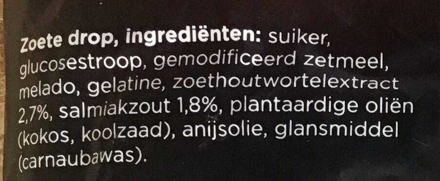 Droptoefjes - Ingrediënten - nl