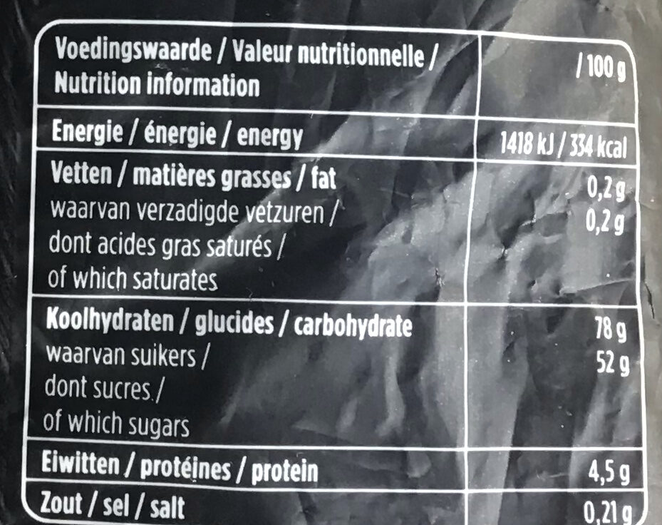 Droptoefjes - Voedingswaarden - nl