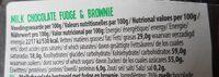 Milk Fudge&Brownie - Nährwertangaben - de