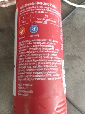 Hela Krulden Ketchup Pinda - Ingredients - en