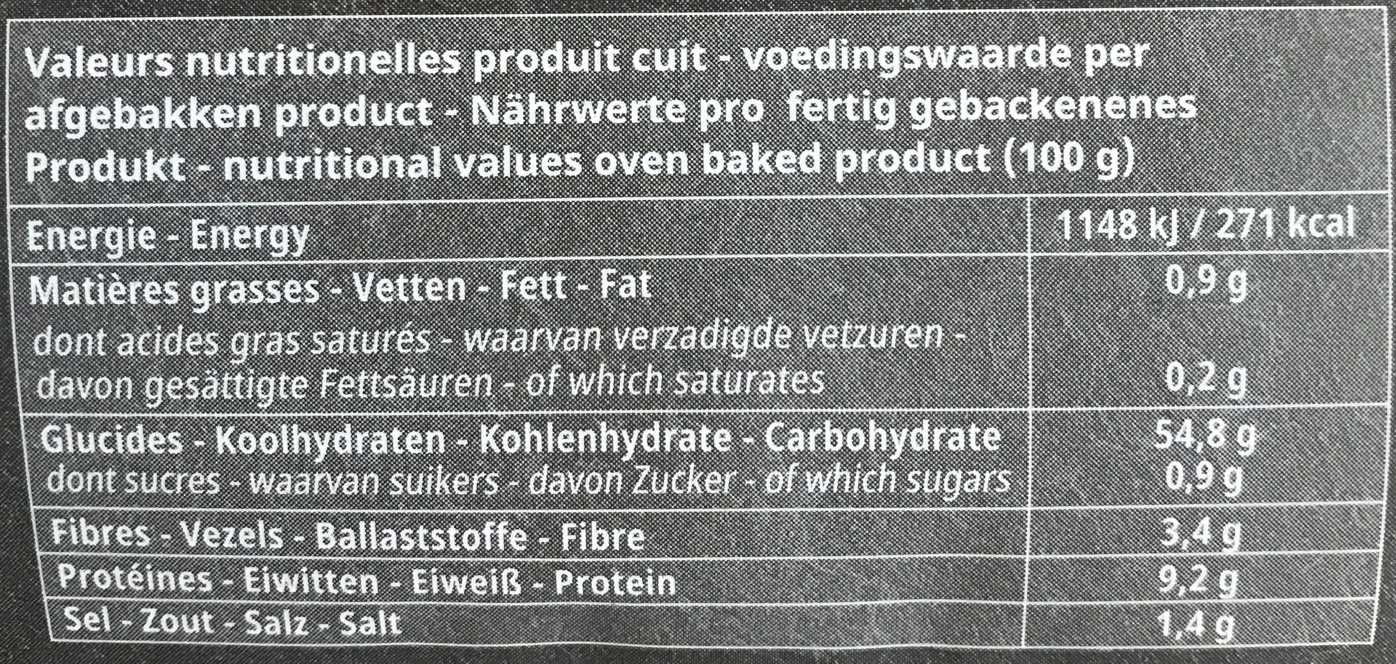 La grande baguette - Nutrition facts