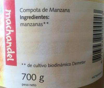 Compote de pommes - Ingredients