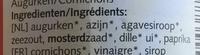 bio Augurken zoetzuur - Ingredients - nl