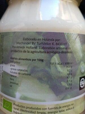 Bio Mayonesa - Informació nutricional - es