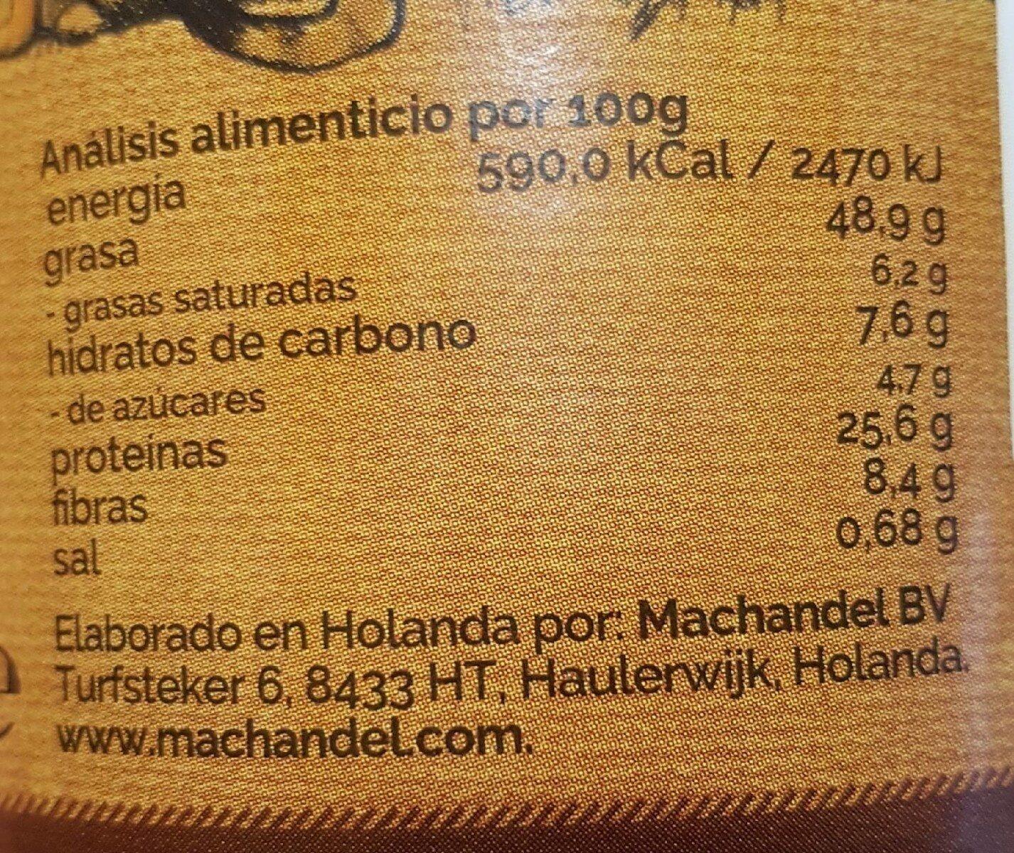 Crema de cacahuete fina - Información nutricional - es