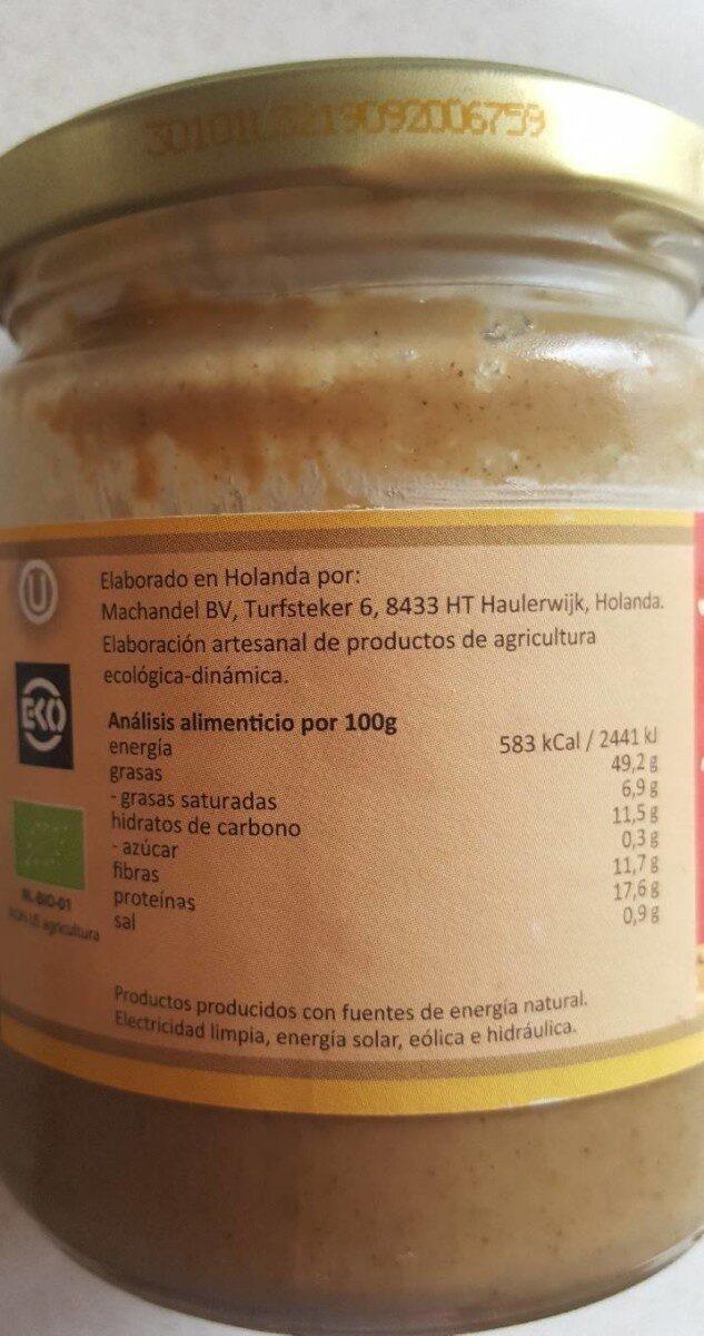 Tahin (semillas de sésamo) - Información nutricional - es