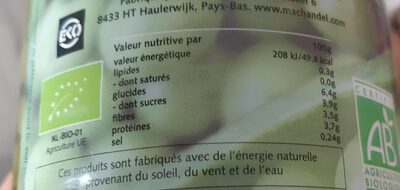 Bio petits pois - Nutrition facts - fr