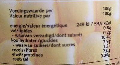 Bio Maíz dulce - Informations nutritionnelles - fr
