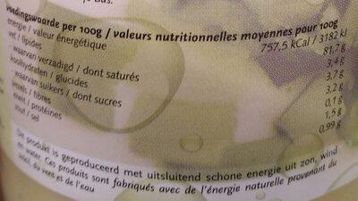 Bio Omega Mayonnaise - Voedingswaarden